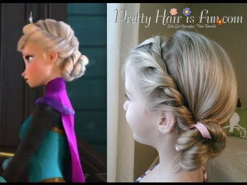 How To: Elsa's Coronation Hairstyle Disney's FROZEN | Pretty Hair is Fun - YouTube