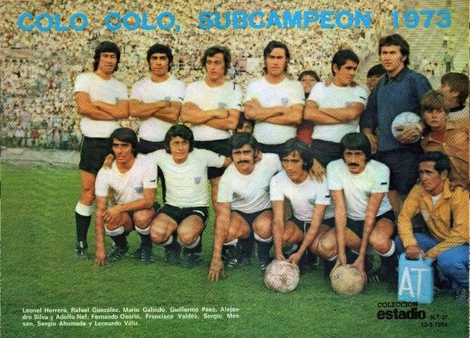 Colo Colo of Chile team group in 1973.
