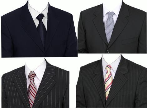 Черные костюмы для фотошопа