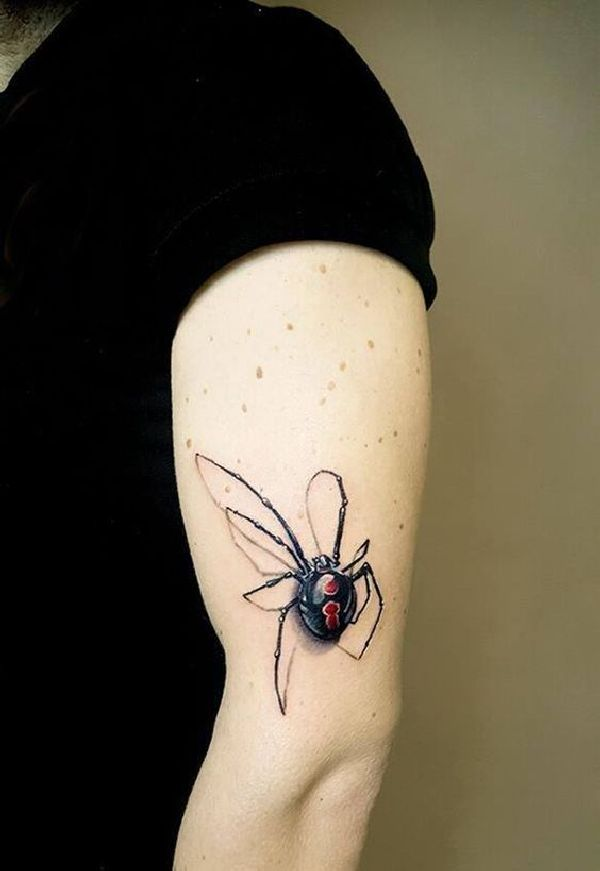 34 besten spider tattoo desings bilder auf pinterest spinnen insekten und tattoo zeichnungen. Black Bedroom Furniture Sets. Home Design Ideas