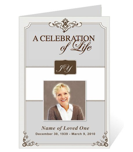 funeral bulletins templates ao single fold programs ao celebrity letter single fold funeral program
