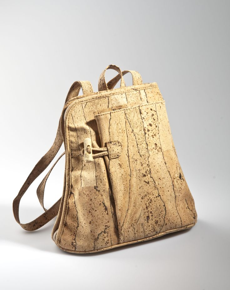 Unconventional design backpack made of cork