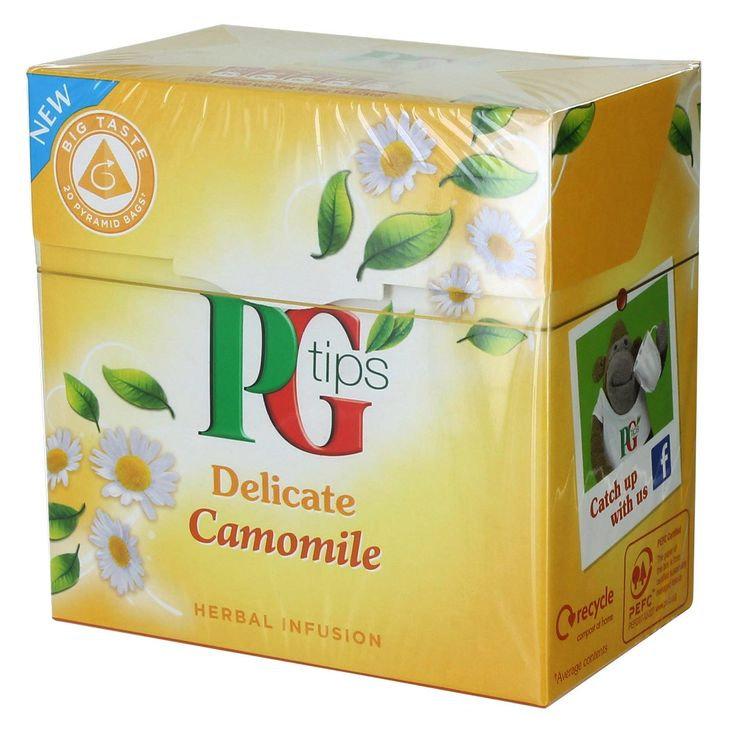 PG Tips Delicate Camomile Tea - 20 count
