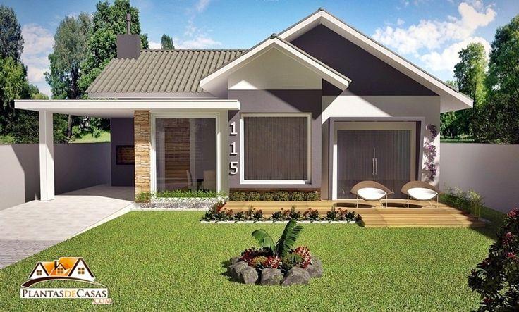 """O projeto da """"casa Mauá"""" é uma planta de casa, desenvolvido para terrenos de 12 ou 15 metros de frente. Com 3 quartos sendo 1 suíte. Conta com uma sala estilo americano onde a sala de jantar, estar e a cozinha fazem parte de uma ambiente. Uma porta-janela entre a sala de jantar e churrasqueira …"""