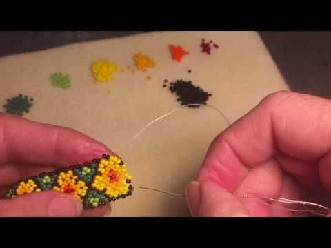 36. How to bead this AWESOME HUICHOL MEDALLION ! Beading Tutorial in English! - YouTube