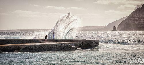 La Graciosa, giocando con le onde dell'Oceano - Canarias