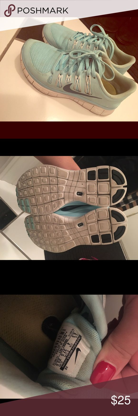 Nike Tiffany Blue Shoes Great condition! :) I take reasonable offers! Nike Shoes Sneakers