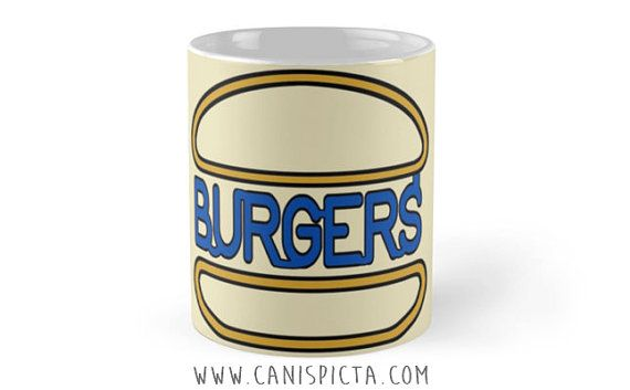 Burger Food Mug 11 oz Ceramic Cup Tea Coffee by CanisPicta on Etsy
