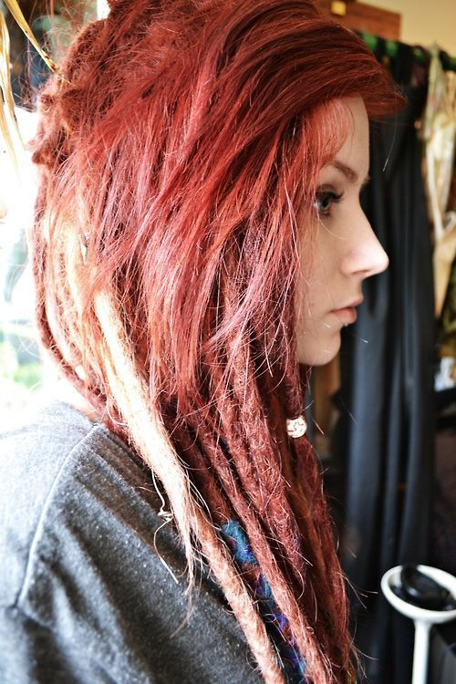 51 best clipinhairextension images on pinterest pre bonded hair i love girls with red hair and dreads its so bold pmusecretfo Choice Image