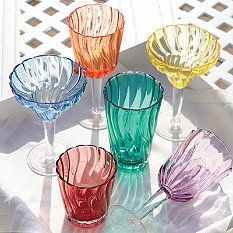 Swirl Pool side drinkware.  Beautiful for plastics but $50