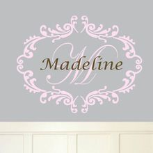 Custom made qualquer nome personalizado da parede do decalque removível vinil adesivo para decoração do quarto do bebê(China (Mainland))