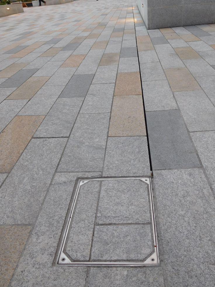 Slot Drain Catch Basin Floor Drains Courtyard Design Granite Flooring
