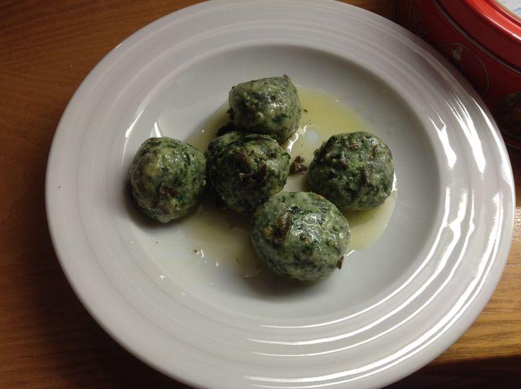 """Tuscan """"Gnudi"""" ... or naked pasta!"""