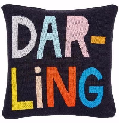 Darling cotton knit cushion #Baby #Blanket #castelandthings