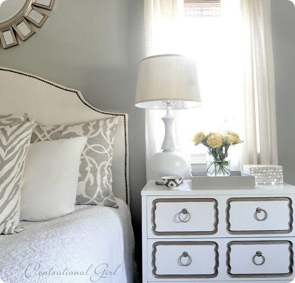 The Great White Nightstand Bedroom Pinterest Grey Lamps And Tables