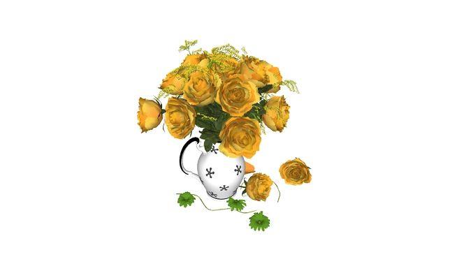 Jarro Rosas Amarelas - 3D Warehouse
