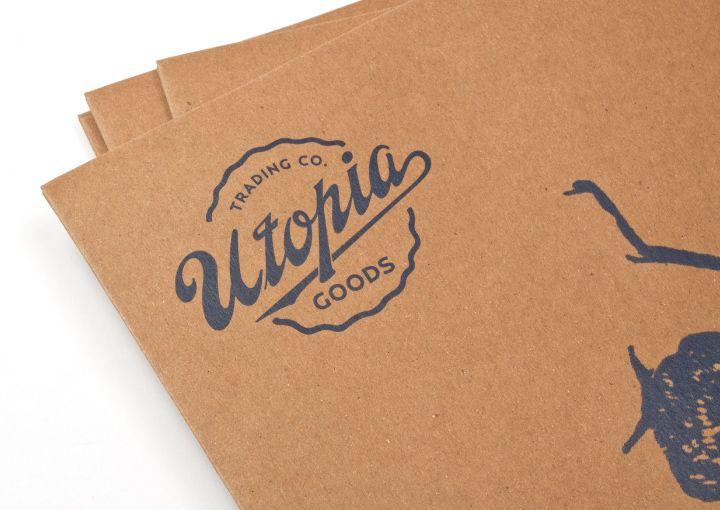 Utopia Goods branded scarf envelopes by Deuce Design.