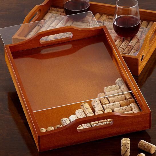 cute idea. keep all the corks n make a frame. if we have beer bottles, keep all the caps n make a frame..