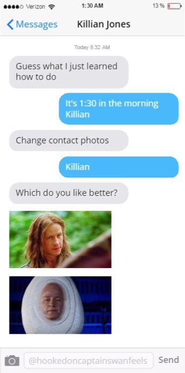 ouat fake texts   Tumblr
