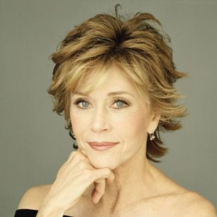 Jane Fonda- Please, please, please let me age this well and be as active as she is when I'm her age!