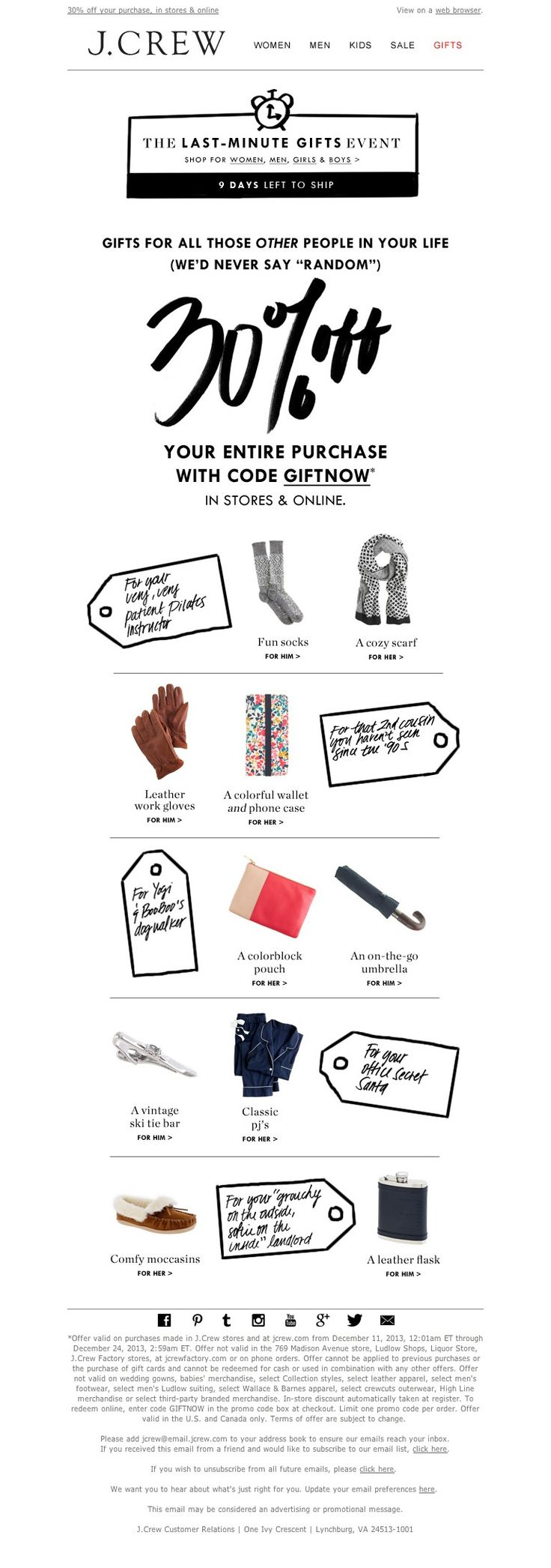 J. CREW #email #emaildesign #email marketing