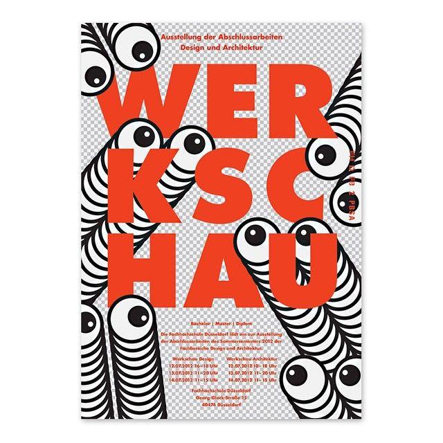 Degree show poster by Florian Mecklenburg and Thao Tran, 2012 #typography #poster #design #illustration #hsdüsseldorf #raumbesetzung