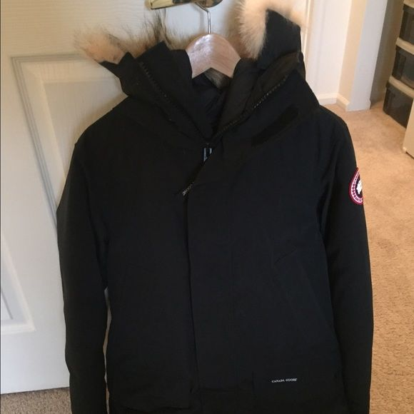 Canada Goose Men's Langford Parka Excellent condition. Authentic Canada Goose Men's Langford parka, black, size small. Bought for my husband, he didn't like this style and rarely used it. For sale only; no trades. Canada Goose Jackets & Coats