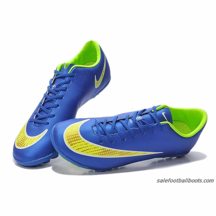 Nike Mercurial Victory V TF Dark Blue Fluorescent Yellow $61.99