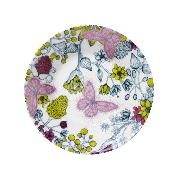 Arabia Runo plate 16,5 cm, Butterfly (195 SEK) found on Polyvore