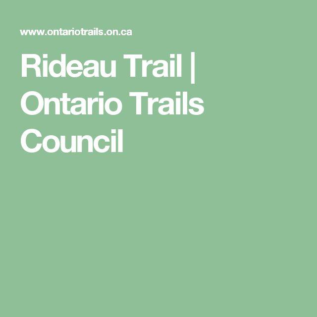 Rideau Trail   Ontario Trails Council