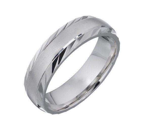 Buy Palladium Heavyweight Diamond Cut Satin Wedding Ring at Argos.co.uk, visit Argos.co.uk to shop online for Men's wedding rings and bands, Men's rings, Men's jewellery and cufflinks, Jewellery and watches
