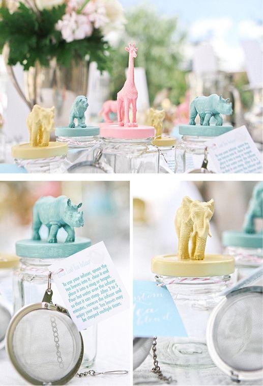 baby shower animal theme tea bar station party favor idea andrea patricia