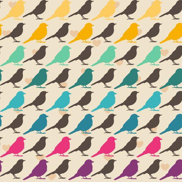 Znalezione obrazy dla zapytania pattern with birds