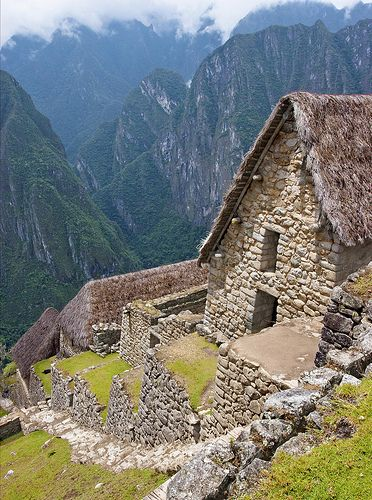 Machu Picchu, The Lost City , Peru Stadium seating for houses: build on a steep slope so every house has an amazing view!