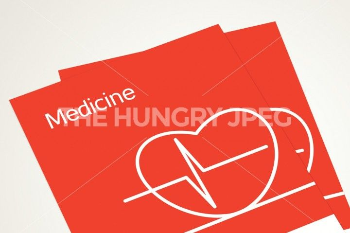 Medicine icons and patterns set from cardiogram, pill and enema. Vector