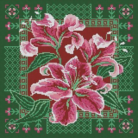 Free Cross Stitch Pattern Flower   free patterns for cross stitch free embroidery designs free cross ...