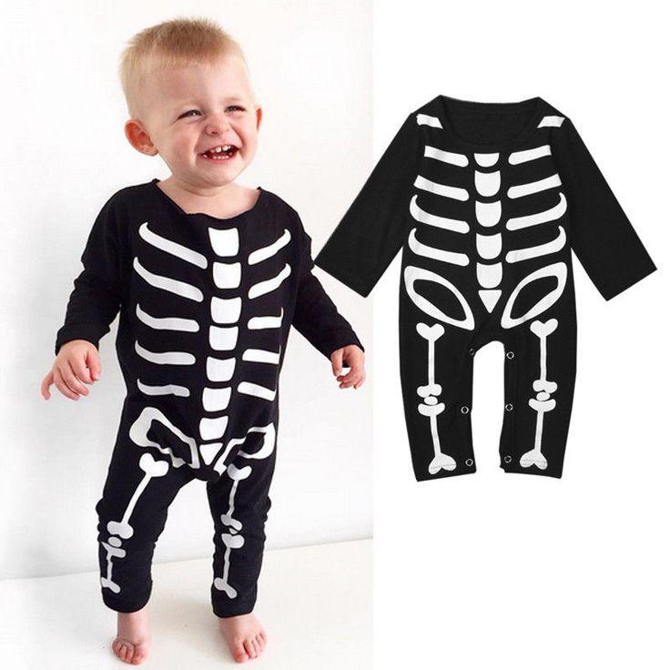 Newborn Kid Long Sleeve Skull Jumpsuit //Price: $14.69 & FREE Shipping //     #skull #skullinspiration #skullobsession #skulls