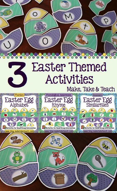 3 Easter themed activities. Fun for centers or for small group instruction!