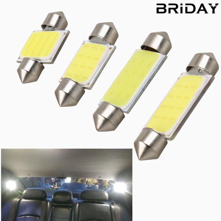 BRIDAY 1pc Festoon 31mm 36mm 39mm 41mm car COB LED Bulb C5W C10W White Color Car Dome reading Map Light Auto Interior Lamp DC12V  Price: 0.90 USD