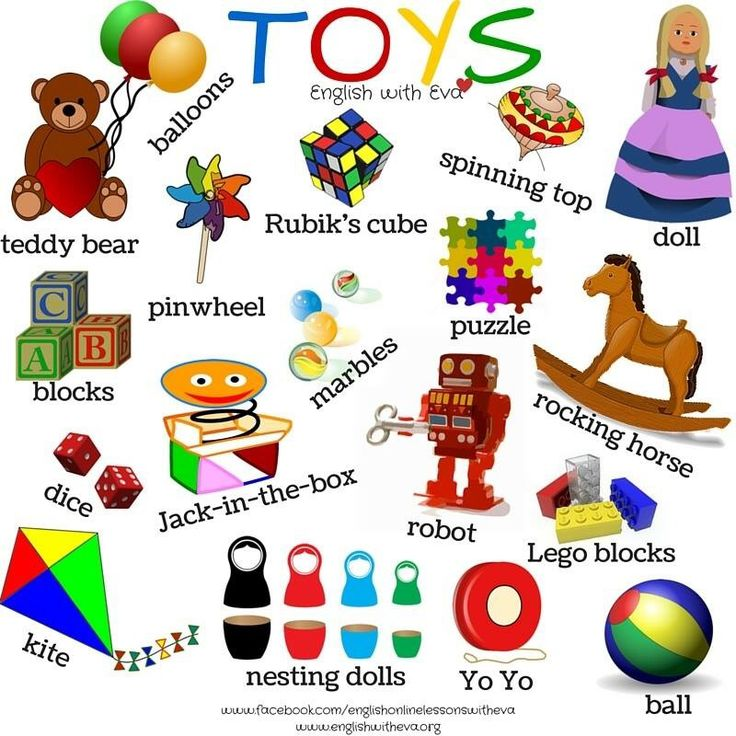 ESL, EFL, English Vocabulary, Toys, English with Eva