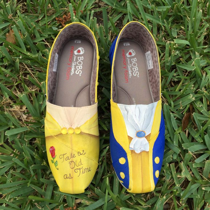Hand Painted Beauty and the Beast inspired canvas shoes- made to order!- TOMS by SistersHead2Toe on Etsy https://www.etsy.com/listing/239723650/hand-painted-beauty-and-the-beast