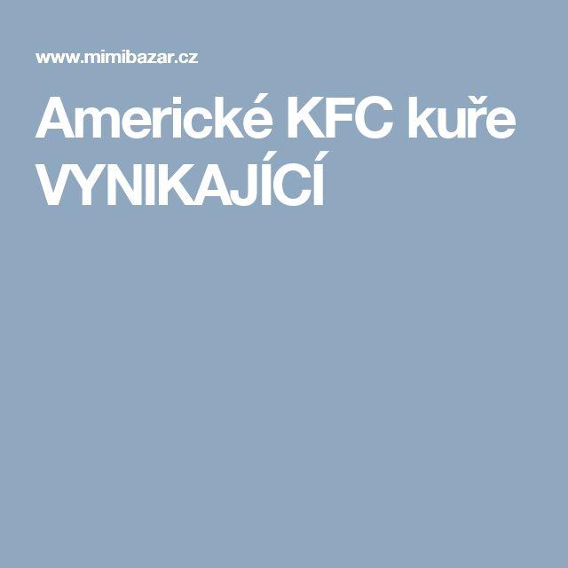 Americké KFC kuře VYNIKAJÍCÍ