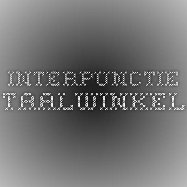 Interpunctie - TAALwinkel