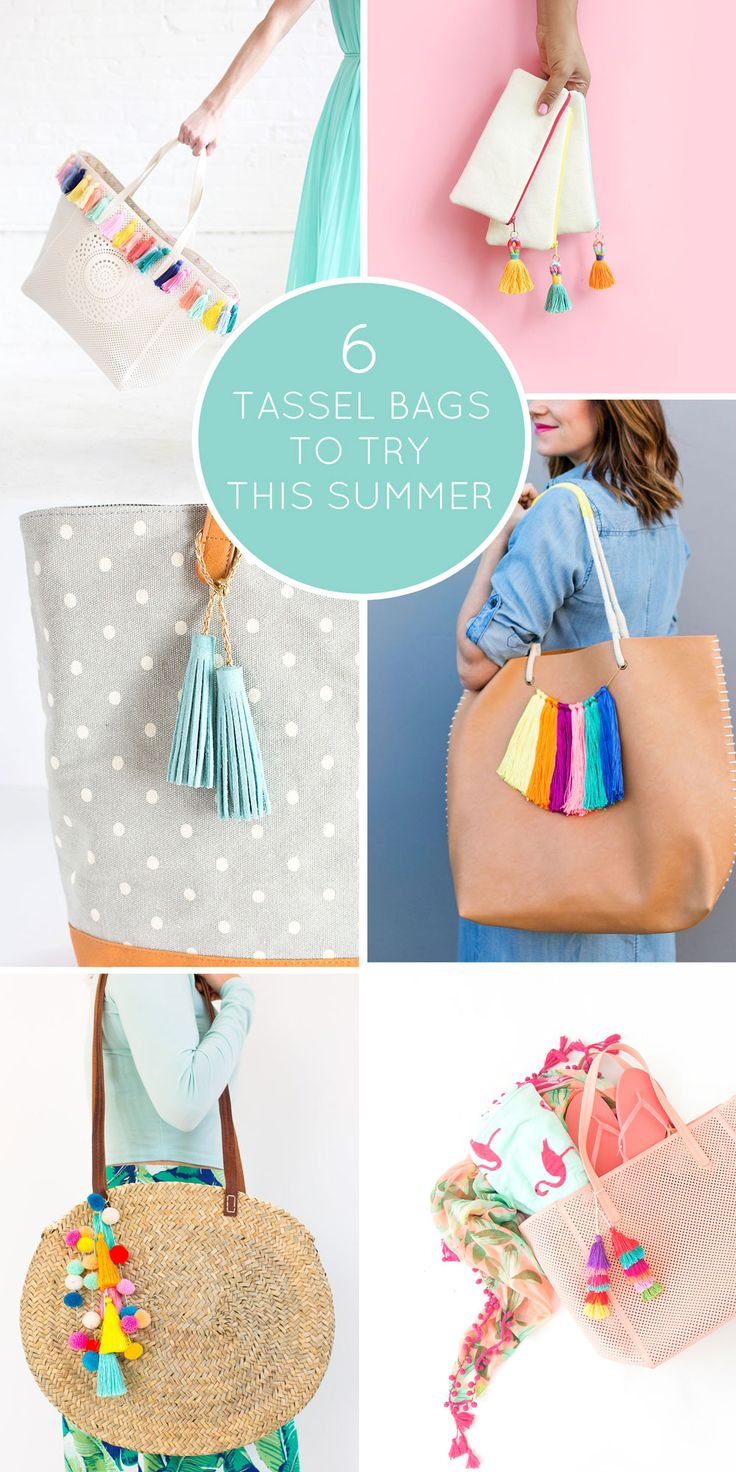 6 DIY TASSEL BAGS TO TRY THIS SUMMER