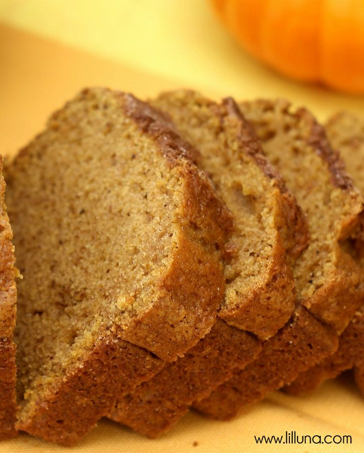 Perfect Pumpkin Bread Recipe ~ the Cinnamon and Sugar topping is the perfect touch!