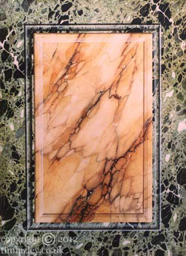 faux marble trompe l'oeil panel vert antique by Tim Bizley