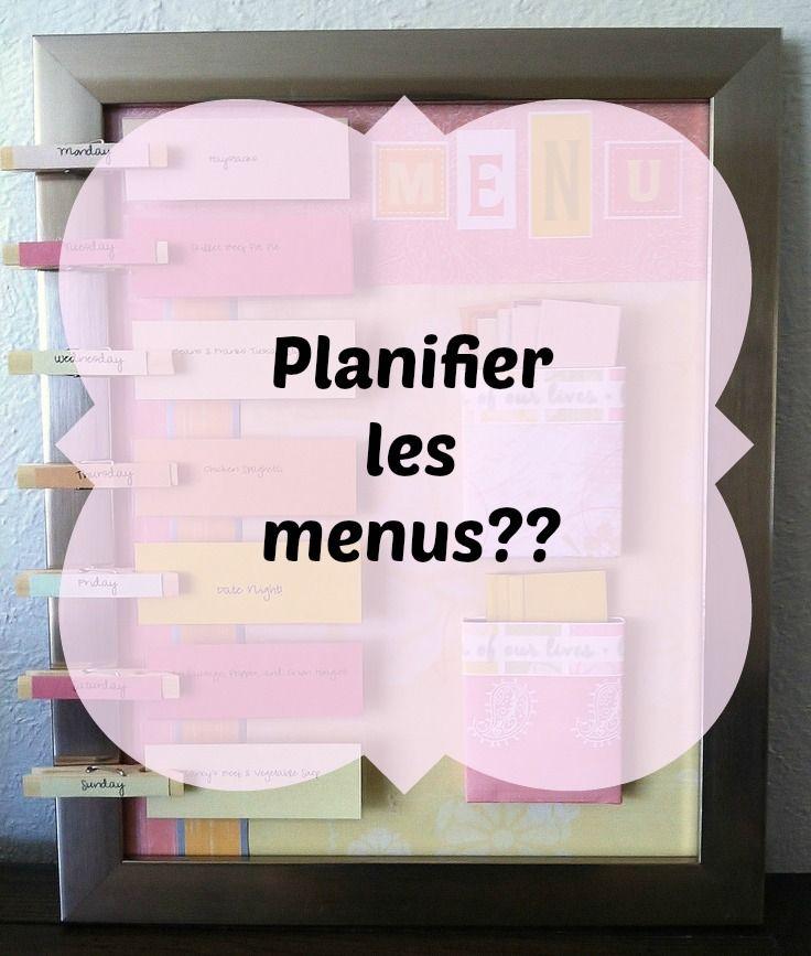 Planifier les menus
