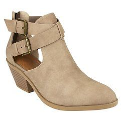 Cover Girl Women's Claudia Strappy Open Ankle Bootie - NATURAL