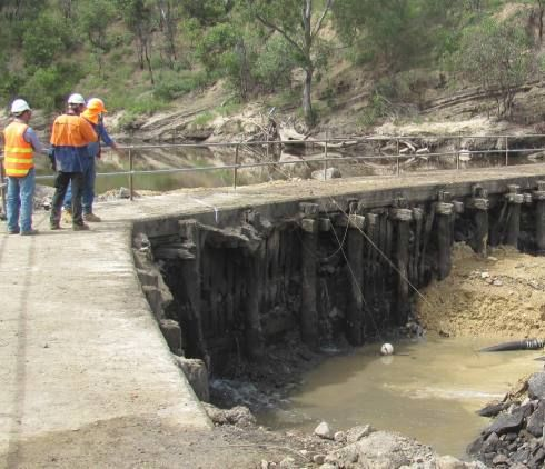 Melbourne Water has completed a new weir and