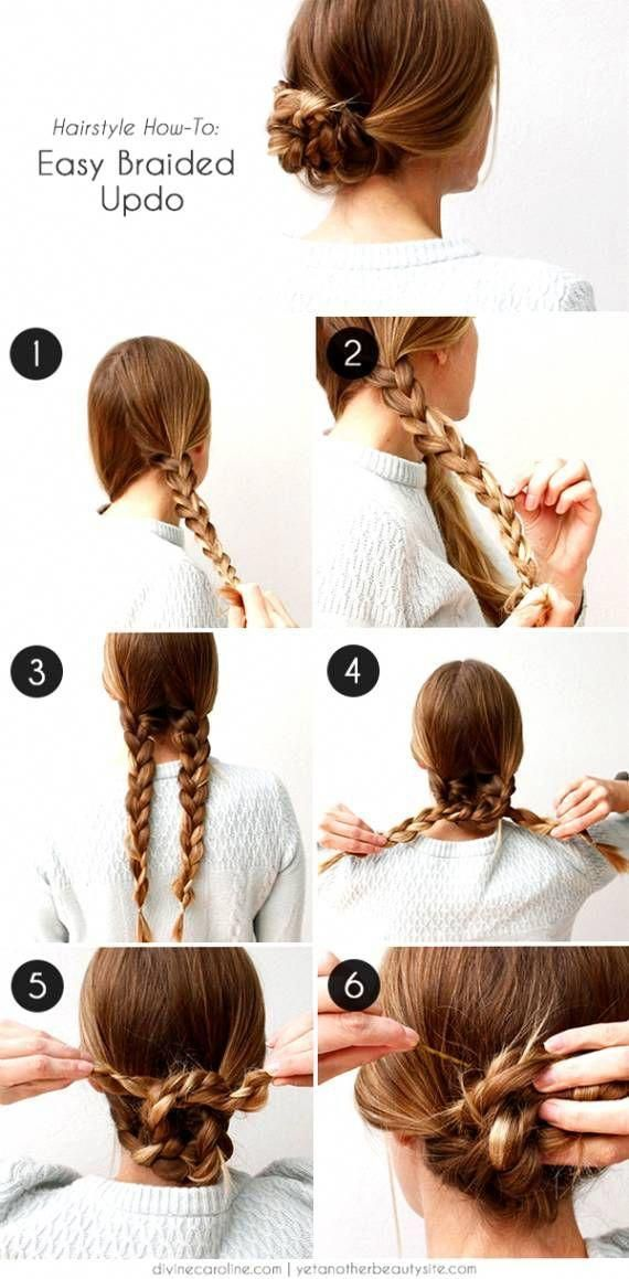 Easy To Do Hairstyles Step By Step For Thin Hair Google Search Hair Styles Braided Hairstyles Easy Easy Braided Updo